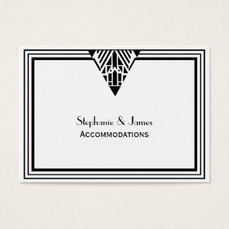 Vintage Art Deco Black Wht Frame #1 Accommodations Business Card
