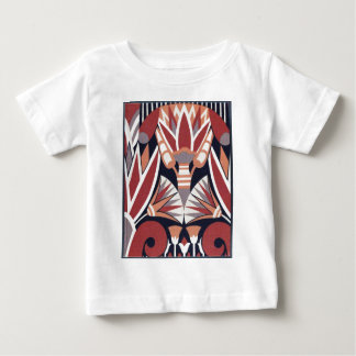 Vintage Art Deco Book Paper Pattern Baby T-Shirt