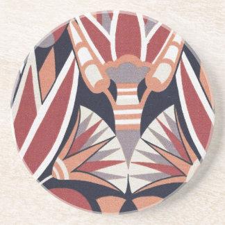 Vintage Art Deco Book Paper Pattern Coaster