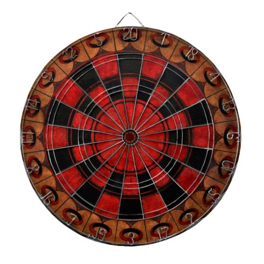 Vintage Art Deco Chess Dart Boards
