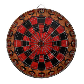 Vintage Art Deco Chess Dartboard