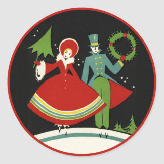 Vintage Art Deco Christmas Stickers