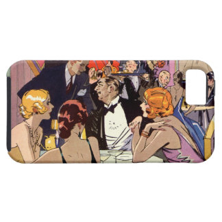 Vintage Art Deco Cocktail Party at Nightclub iPhone 5 Cover