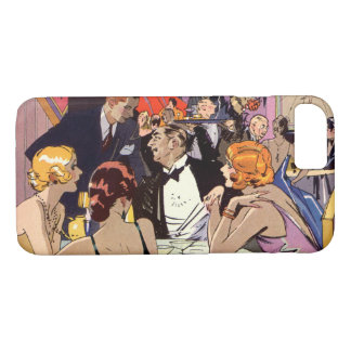Vintage Art Deco Cocktail Party at Nightclub iPhone 7 Case
