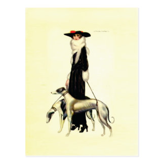 Vintage Art Deco Fashion Postcard