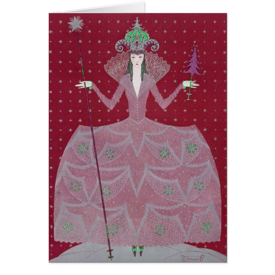 """VINTAGE ART DECO """"FASHIONS OF THE HOUR"""" CHRISTMAS CARD"""