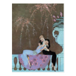 Vintage Art Deco Fireworks Kiss Save the Date!