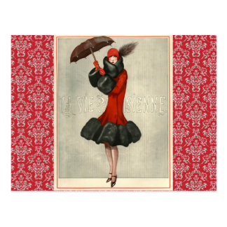 Vintage Art Deco Flapper French Fashion Postcard
