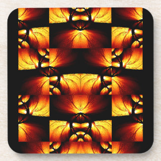 Vintage/Art Deco-Flavored Abstract Design Coasters