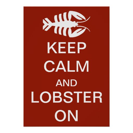 Vintage Art Deco Keep Calm and Lobster On
