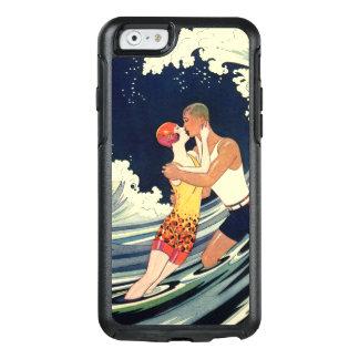 Vintage Art Deco Love Beach Wave Romantic Kiss OtterBox iPhone 6/6s Case