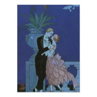 Vintage Art Deco Love Romance Newlyweds Wedding 13 Cm X 18 Cm Invitation Card