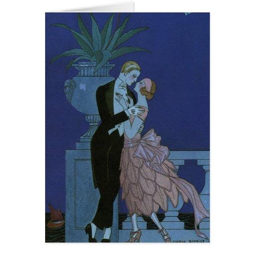 Vintage Art Deco Love Romance Newlyweds Wedding Greeting Cards