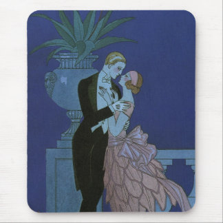 Vintage Art Deco Love Romance Newlyweds Wedding Mouse Pad