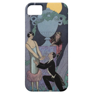 Vintage Art Deco Moonlight Love Triangle iPhone iPhone 5 Covers