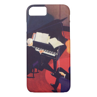 Vintage Art Deco Music Lounge Piano Player Pianist iPhone 8/7 Case