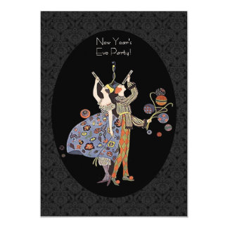 Vintage Art Deco New Year's Eve Party 13 Cm X 18 Cm Invitation Card