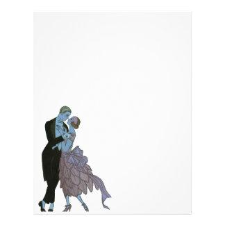 Vintage Art Deco, Newlyweds Love Wedding Dance 21.5 Cm X 28 Cm Flyer