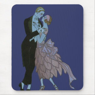 Vintage Art Deco, Newlyweds Love Wedding Dance Mouse Pad