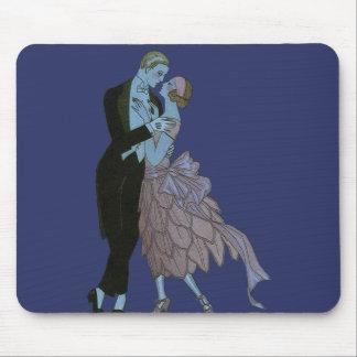 Vintage Art Deco, Newlyweds Love Wedding Dance Mouse Pad