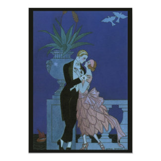 Vintage Art Deco Newlyweds, Oui by George Barbier Card