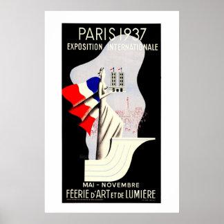 Vintage art deco Paris World expo 1937 Print