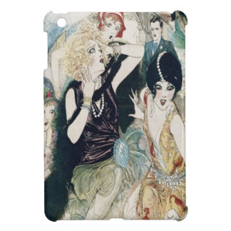 Vintage Art Deco Party Mayhem and Mischief iPad Mini Covers
