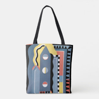 Vintage Art Deco Pochoir Jazz Geometric Patterns Tote Bag