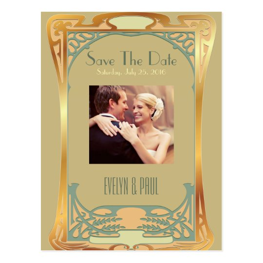 Vintage Art Deco Save The Date ~ Gatsby