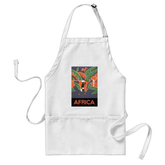 Vintage Art Deco Travel, Native in African Jungle Standard Apron
