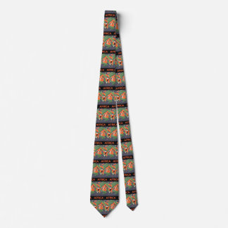 Vintage Art Deco Travel, Native in African Jungle Tie