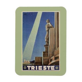 Vintage Art Deco Trieste Italian travel poster Rectangular Photo Magnet