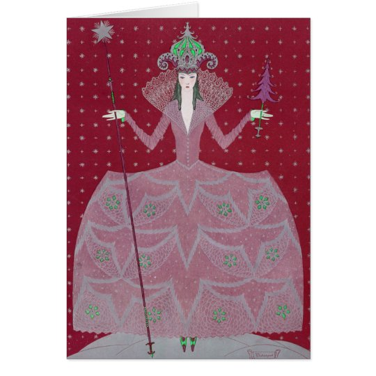 "VINTAGE ART DECO ""TWIRLY SWIRLY BERRY 'N GREEN"" CARD"