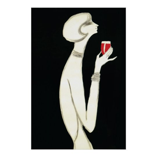 Vintage Art Deco ~ Villemot for Campari 1977 Poster