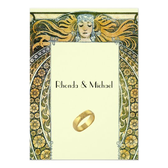 Vintage Art Deco Wedding Invitation