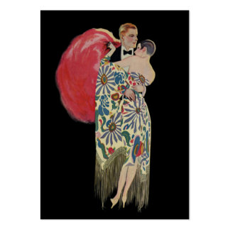 Vintage Art Deco Wedding, Newlywed Lovers Dancing Pack Of Chubby Business Cards
