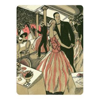 Vintage Art Deco Wedding, Newlyweds First Dance 17 Cm X 22 Cm Invitation Card