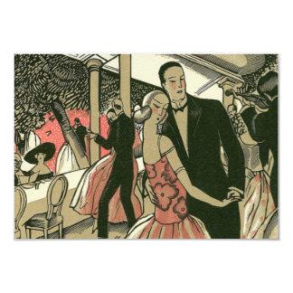 Vintage Art Deco Wedding, Newlyweds First Dance 9 Cm X 13 Cm Invitation Card