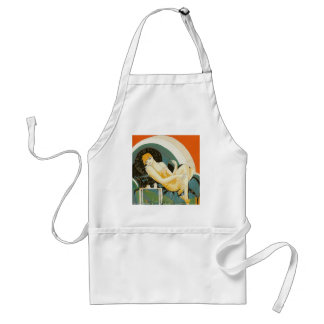 Vintage Art Deco Woman Reclining on Couch, Chompre Aprons