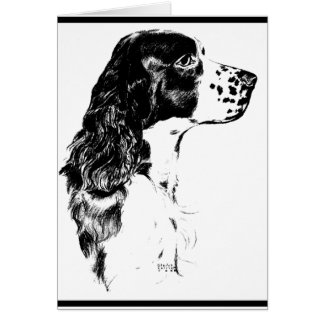 Vintage Art English Springer Spaniel Card