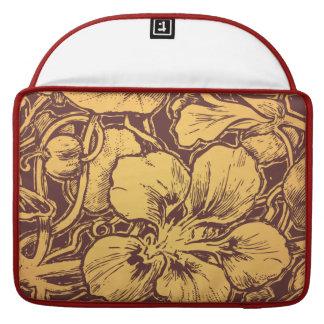 Vintage art Floral elements. Sleeves For MacBook Pro