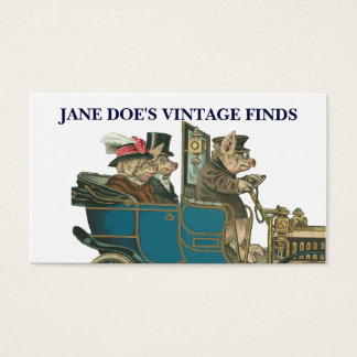 Vintage Art Funny Pigs Customizable 2-sided