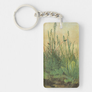 Vintage Art, Great Piece of Turf by Albrecht Durer Double-Sided Rectangular Acrylic Key Ring