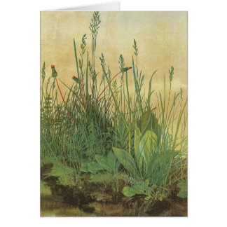 Vintage Art, Great Piece of Turf by Albrecht Durer Greeting Card