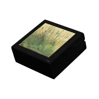 Vintage Art, Great Piece of Turf by Albrecht Durer Small Square Gift Box