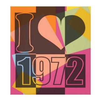 Vintage Art - I love (heart) 1972 - Wrapped Canvas Canvas Print