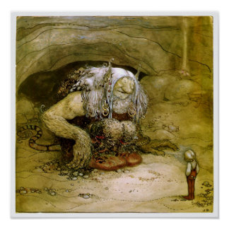 Vintage Art - John Bauer Fantasy Art Poster