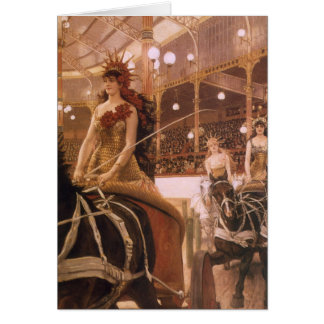 Vintage Art, Ladies of the Cars (Circus) by Tissot Greeting Card