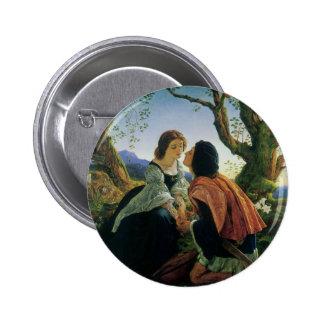 Vintage Art, Lovers at Dusk, Sir Joseph Noel Paton 6 Cm Round Badge