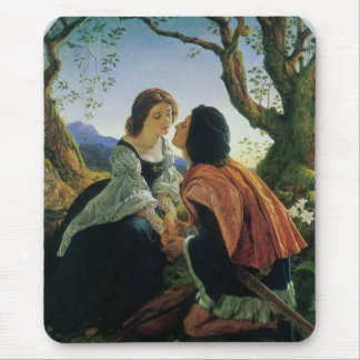 Vintage Art, Lovers at Dusk, Sir Joseph Noel Paton Mouse Pad